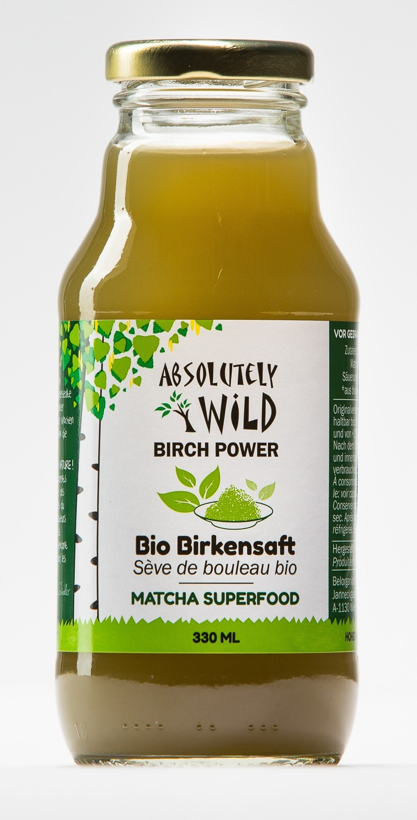 ABSOLUTELY WILD Bio Birch Power MATCHA 330ml Aktion