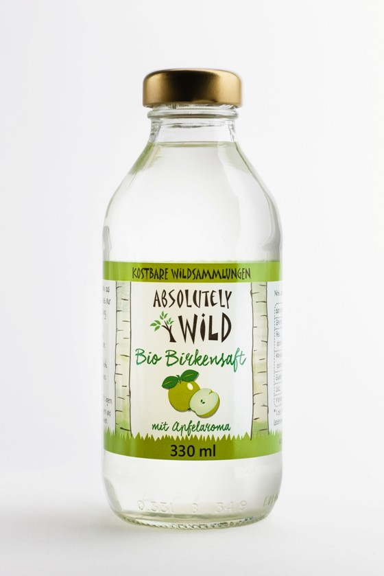 "Bio Birkensaft ""Absolutely Wild"" Naturtrüb Apfel  330ml"