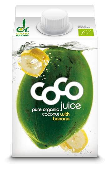Dr. Antonio Martins Coco juice Banane Drink 500ml BIO