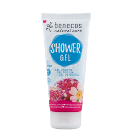 Benecos NATURAL SHOWER GEL Granatapfel & Rose, zertifizierte Naturkosmetik (BDIH) 200ml
