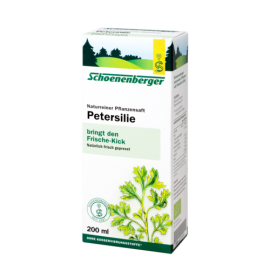 Schoenenberger® Petersilie, Naturreiner Pflanzensaft 200ml.